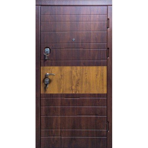 Бронированная дверь Luxe Комби вишня мореная