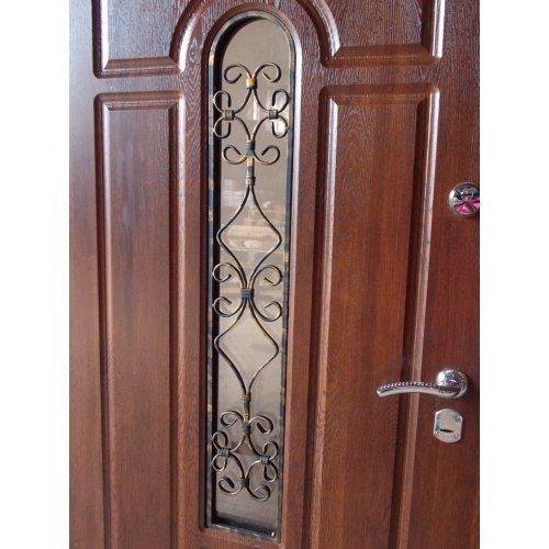 Входная дверь Redfort Премиум Арка с ковкой №4 Дуб медовый