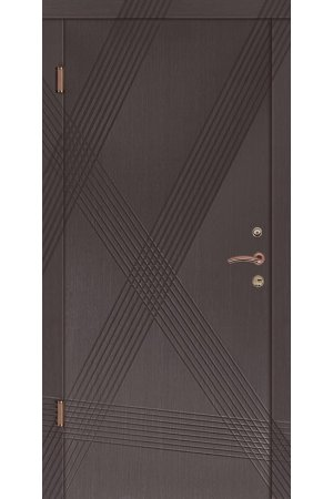 Входная дверь Портала Диагональ венге серый