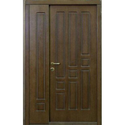 Входная двери 1200 Стандарт Портала Геометрика орех темный