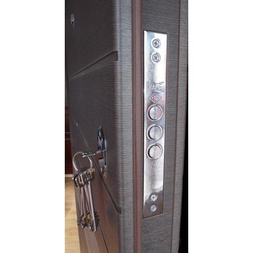 Входная дверь Redfort Элит Тифани Венге серый продольный