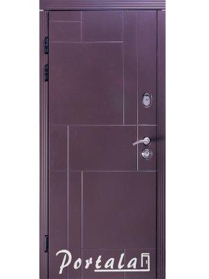 Дверь Премиум Неаполь-2 RAL 8019 тефлон/спил пепельный