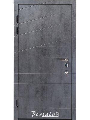 Дверь Элит Диагональ-2 бетон темный/бетон светлый