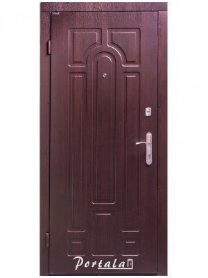 Дверь МДФ Арка 10 темный орех (улица)