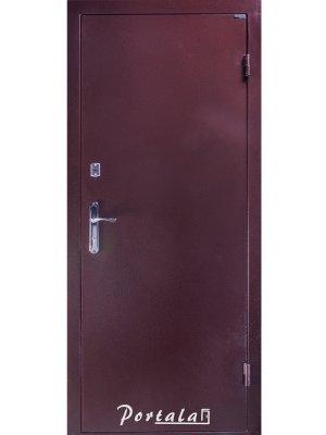 Дверь Элегант медный антик/темный орех