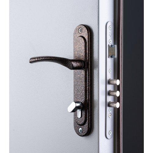 Противопожарная дверь EI-30 серая шагрень