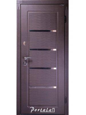 Дверь Люкс Верона темный венге горизон/светлый венге гладкий