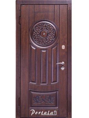 Дверь Люкс Ам-7 патина дуб темный/каштан патина