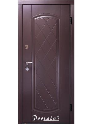 Дверь Люкс Шампань RAL 8019 графит/белое дерево