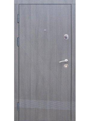 Дверь Премиум Диагональ серый экокаштан