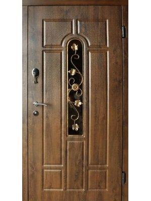 Дверь Стандарт Арка дуб бронзовый (+ковка)