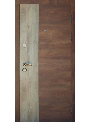 Дверь Элит Соната срез дерева коньячный + пепельный