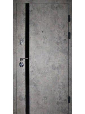 Дверь Элит Лофт базальт + черный молдинг