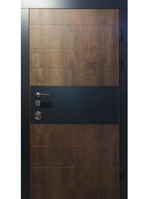 Дверь Элит Комби срез дерева коньячный + антрацит