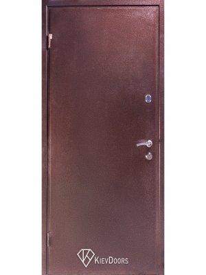 Дверь Металл медный антик/МДФ классик арка темный орех
