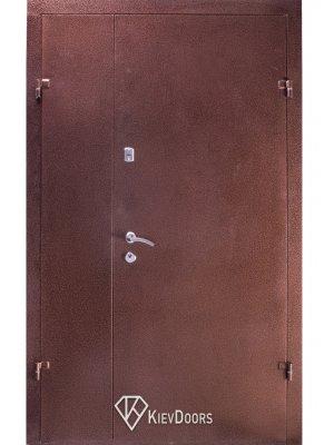 Дверь 120 Металл медный антик/МДФ классик арка темный орех