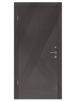 Дверь Стандарт Диагональ венге серый горизонт/венге светлый