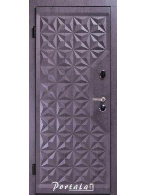 Дверь Люкс Кале граф-4 темный бетон/граф-2 белый мат