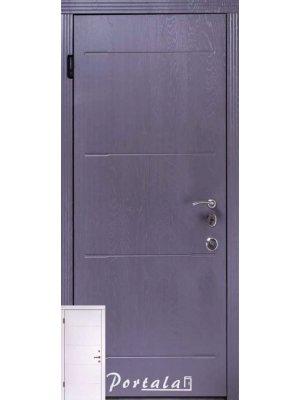 Дверь Люкс Моттура Токио-2 серый супермат/белый супермат