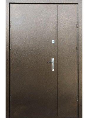 Полуторная Дверь Оптима Металл/металл с притвором