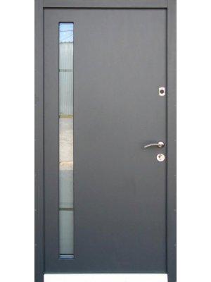 Дверь Оптима Металл/мдф с стеклопакетом