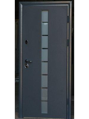 Дверь Коттедж грей-глас с двухкамерным стеклопакетом